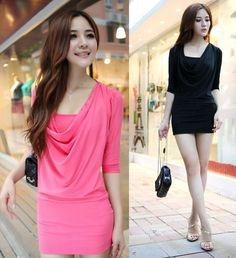 New Fashion Women's Casual Dresses Long Sleeve Night Club Lovely V-Neck MultiColors Evening Dress Free Shipping Wholesale WC2185(China (Mainland))