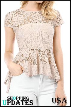 Blouse And Skirt, Blouse Outfit, Baby Girl Dresses, Lace Tops, Chic Outfits, Lace Detail, Blouse Designs, Cap Sleeves, Trendy Fashion