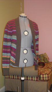Penny Pinching on a Dime: No Sew Cardigan Refashion