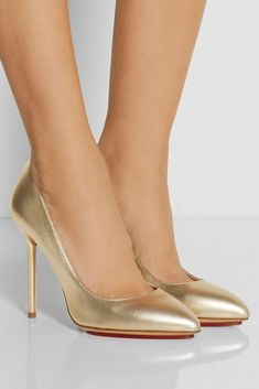 CHARLOTTE OLYMPIA Monroe Metallic Leather Pumps | Buy ➜ http://shoespost.com/charlotte-olympia-monroe-metallic-leather-pumps/ #charlotteolympiaheelswedding #charlotteolympiaheelsmetallicleather