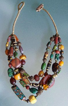 Necklace  of mixed beads from Africa and Asia, Don'Kay Designs