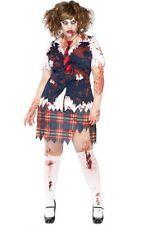 Plus Size L-XL Halloween Costume Zombie School Girl Undead Teachers Pet 1X 2X