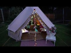 Bell Tents - 4m - YouTube Bell Tent, Tents, Glamping, Outdoor Gear, Youtube, Travel, Teepees, Viajes, Go Glamping