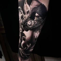 50 of the Most Beautiful and Mysterious Venetian Mask Tattoos and Their Meaning