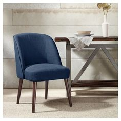 Colette Flax Dining Chair With Espresso Legs Dining