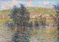 Only light , into light … water reflections … Claude Monet The Seine At Vetheuil Effect Of Sun After Rain - Claude Monet 1879 …. Monet pursued something quite different. Monet Paintings, Impressionist Paintings, Landscape Paintings, Claude Monet, Mary Cassatt, Classic Paintings, Beautiful Paintings, Vincent Van Gogh, National Gallery Of Art