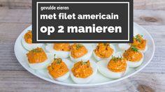 Gevulde eieren met filet americain doen het altijd goed op feestjes. 2 recepten om de lekkerste gevulde eieren te maken. Belachelijk simpel om zelf te maken