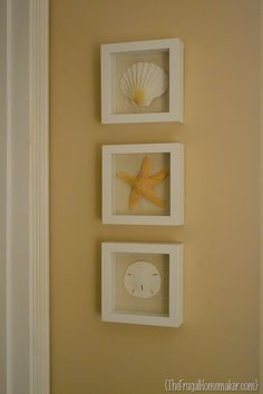 Beach inspired art {Sea Shell art} – The Frugal Homemaker