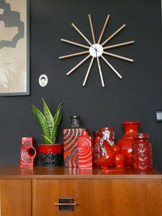 West German Pottery in red by Fat Cat Brussels