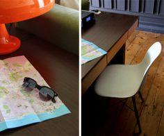 dois igual a três: Tigela de experiências: Casa Oliver  #guesthouse #lisbon #decor #interiors #green #home #travel #portugal #eames #chair #eameschair #sunglasses