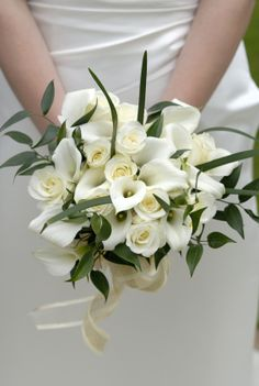 """Bouquet de mariée """"Calla Chic"""".  €50"""