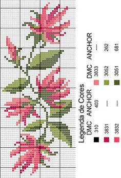 This Pin was discovered by Nic Cross Stitch Bookmarks, Cross Stitch Art, Cross Stitch Needles, Cross Stitch Flowers, Cross Stitch Designs, Cross Stitching, Cross Stitch Embroidery, Hand Embroidery, Cross Stitch Patterns