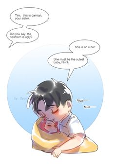 If Damian is a girl and she has three elder brothers to accompany him to grow up ♪(^∇^*)