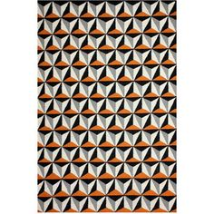 Midcentury Rugs by nuLOOM. Contemporary Orange Flat-Weave Area Rug, Trellis - $189  With a modern design that resembles tilework, this geometric 5-foot by 8-foot woven rug goes bold in orange and black. Go big or go home in decorating your living space.