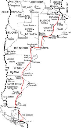 Ruta Nacional 3 (Argentina).svg South America Map, South America Destinations, Patagonia Travel, List Challenges, Ushuaia, Argentine, Argentina Travel, How To Find Out, World Traveler