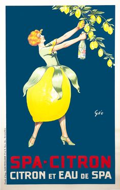 Spa Citron by Geo   Vintage Posters at International Poster Gallery