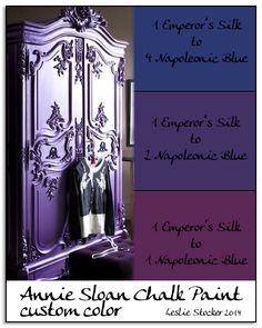 Creating a beautiful, deep purple with Emperor's Silk and Napoleonic Blue Chalk Paint® decorative paint by Annie Sloan | By Colorways: Mixing for Purple
