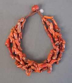 by Miranda Crimp | Necklace made from old North African Berber branch coral beads | POR