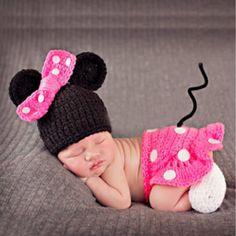 아기 신생아 사진 소품 의상 손 크로 셰 뜨개질 니트 유아 비니 모자 (China (Mainland))