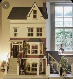 Original Sid Cooke Dolls House complete with furniture figures lighting Victorian Dollhouse, Diy Dollhouse, Dollhouse Furniture, Victorian Homes, Modern Dollhouse, Barbie Furniture, Sims Building, Building A House, Sims 4 House Design