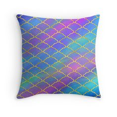 """""""Painted Moroccan Pattern"""" Throw Pillows by noondaydesign 