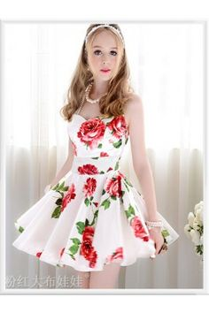 Add a touch of floral to your look by wearing this white and red coloured skater dress #womensfashion #skaterdress #onlineskaterdress #whitedresses #womensdresses Shop here-  https://trendybharat.com/designer-white-and-red-colour-semi-stitched-western-wear-kfkt1025?search=designer%20kurti%20for%20women&page=9