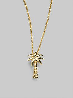 70a6893be Roberto Coin - Tiny Treasures 18K Yellow Gold Palm Tree Pendant Necklace