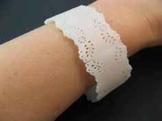 Eyelet Lace Bracelet made from shrinky dinks