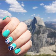 Another amazing #clientview from @breezy_days in love with these geometric mountain nails ⛰ #nails #gelnails #nailstagram #lacqueredloft #nailart #handpaintednailart #mountainnails #oremnails #utahcountynails #licensednailtech