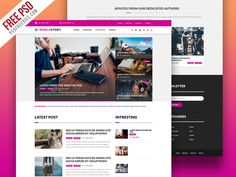 FREE MAGAZINE WEBSITE PSD TEMPLATE - Niftygraphic
