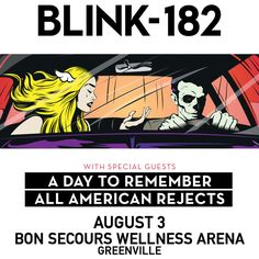 That moment when A Day To Remember, All American Rejects, and Blink-182 show up in South Carolina...wasn't there? Read this, you'll feel as though you were in the show. #ADayToRemember #ADTR #DjSpider #AllAmericanRejects #Blink182 #PopPunk #Punk #Legends #IMissYou #BoredToDeath #AAR #Blink #Bands #Music #Concert #Show #Amazing #Greenville #SouthCarolina …