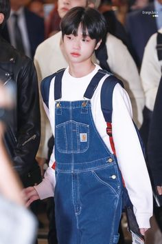 Cover up, internet finds If you want this project to. Kpop, Boy Idols, Love U Forever, Cute Icons, Airport Style, Cute Guys, Robin, Overalls, Korea
