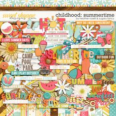 Childhood: Summertime Kit by Heather Roselli & Sugary Fancy