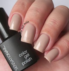 The Clockwise Nail Polish: SensatioNail Taupe Tulips Review