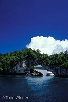 topside scenery at Palau