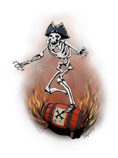 Sea Of Thieves, Pirate Art, Nerd Art, Owl House, Skeletons, Skulls, Rome, Character Art, Cartoons