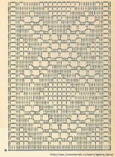 Photo from album Crochet Table Runner Pattern, Crochet Doily Patterns, Crochet Tablecloth, Crochet Doilies, Crochet Mat, Crochet Home, Thread Crochet, Crochet Stitches, Filet Crochet Charts