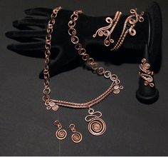 Copper jewelry set,copper earring,copper necklace,copper ring,copper bracelet,wire wrapped jewelry  handmade, jewelry set,unique womens gift
