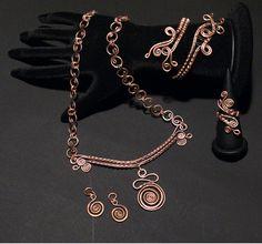 Copper jewelry setcopper earringcopper by BeyhanAkman on Etsy, $125.00