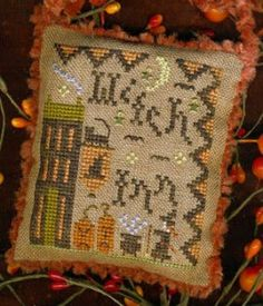Witch Inn is the title of this cross stitch pattern from Homespun Elegance.