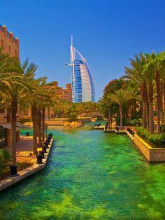 Burj Al Arab Through Palms Pool, Dubai