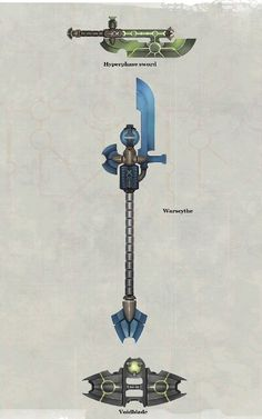 Necron weapons art from new codex