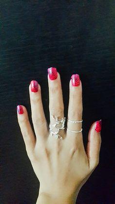 Neon leopard nails.