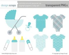 baby boy clip art graphics stroller digital by designscraps