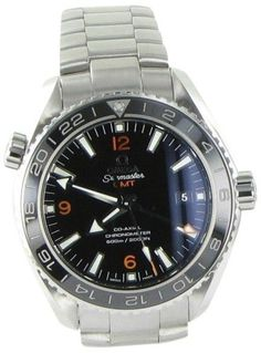 Omega Seamaster Planet Ocean 23230442201002 Stainless Steel Black Dial  43.5mm Mens Watch 8167aa58969