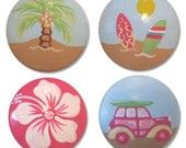 Girls surf drawer knobs - perfect for a surf themed bedroom for your girl or teen