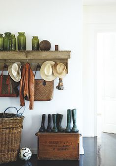 shelf and basket.