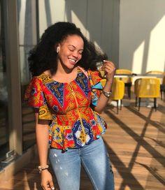 Stunning Peplum Top Styles For Ladies - African Print Fashion, African Fashion Dresses, African Attire, African Wear, Ankara Fashion, Women's Fashion, Fashion Blouses, Ankara Peplum Tops, Ankara Blouse