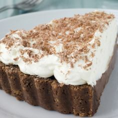 A Delicious coconut chocolate cheesecake recipe, Topped with whipped cream this is a lovely dessert.. Coconut Chocolate Cheesecake Recipe from Grandmothers Kitchen.
