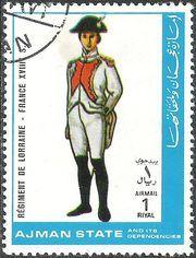 Ajman 1972 Airmail - Military Uniforms 1rI.jpg